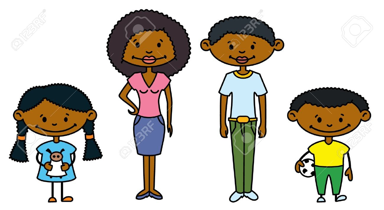 1300x713 African American Clipart Family