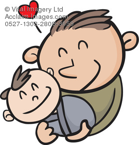 288x300 Collection Of Dad And Baby Clipart High Quality, Free