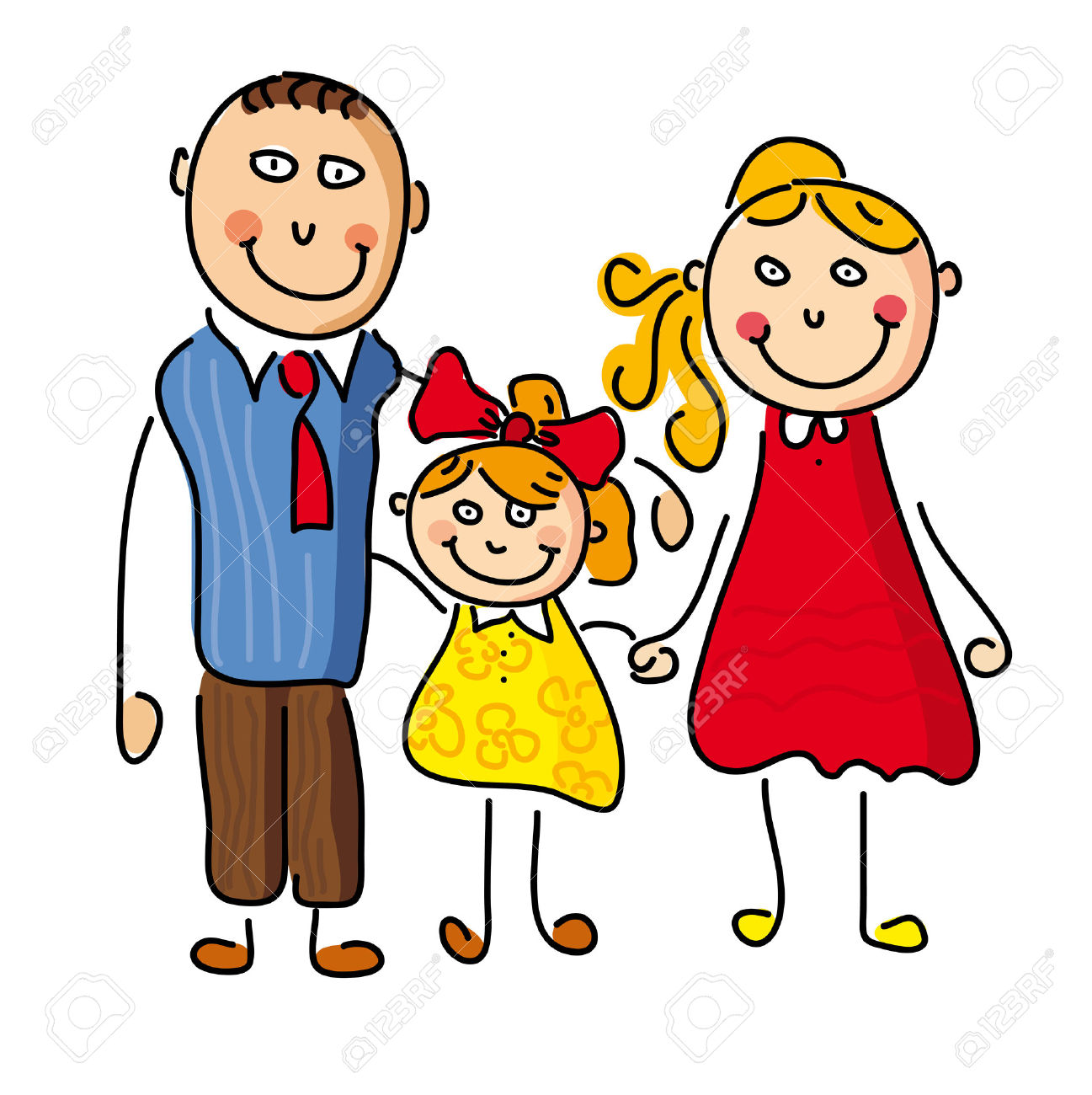 1297x1300 Mom Dad And Child Clipart