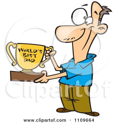 450x470 Royalty Free (Rf) Clip Art Illustration Of A Cartoon Pleased Dad