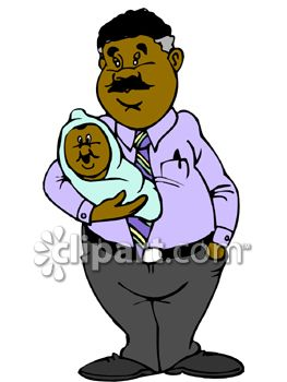 263x350 Royalty Free Clipart Image Proud Black Dad Holding His Baby