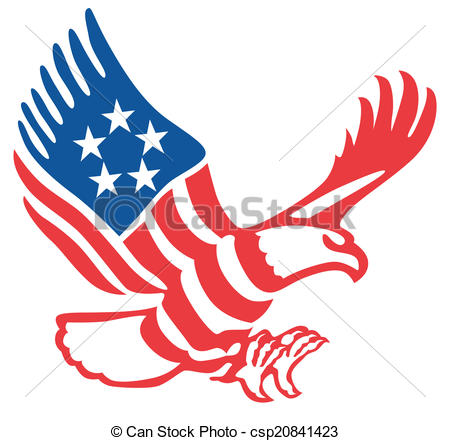 450x441 American Eagle In The Patriotic Colors On The Fly Vector