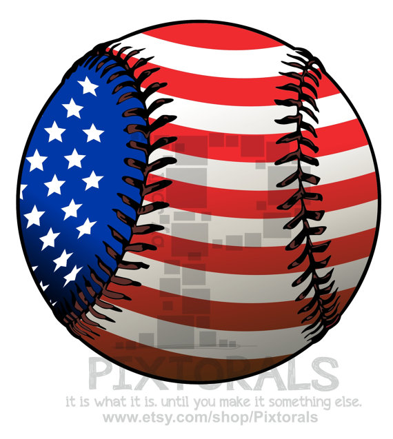 570x637 Baseball With Flag! Png (Transparent Backgrounds) , Eps File