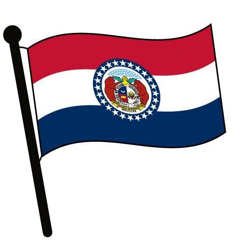 500x500 Missouri Waving Flag Clip Art