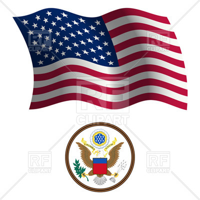 400x400 Usa Flag And Great Seal Royalty Free Vector Clip Art Image