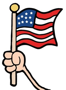 223x300 Us Flag Free Flag Clip Art Image Hand Holding An American