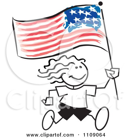 450x470 Royalty Free (Rf) Clipart Illustration Of We The People Text Over