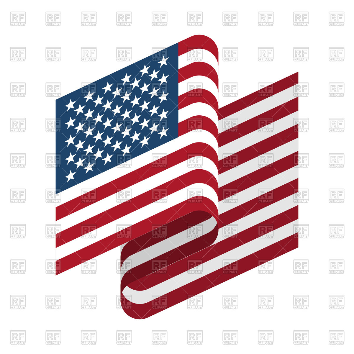 1200x1200 Usa Flag On White Background