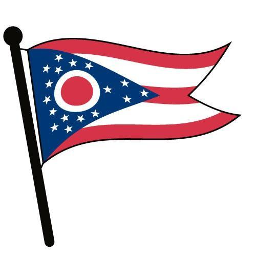 500x500 Waving American Flag Clip Art