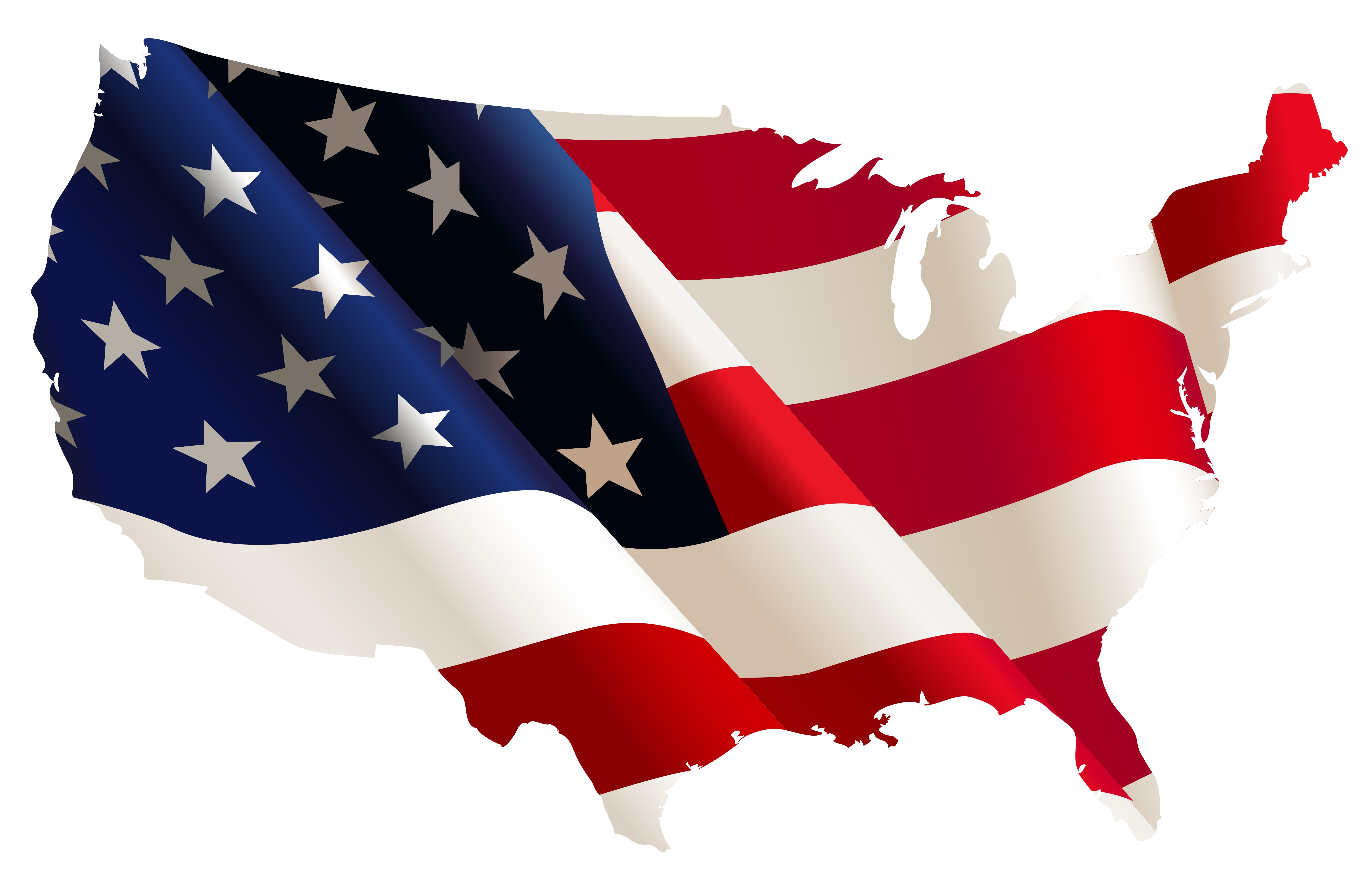7066x4506 Clipart Of Usa Flag Images On Page 0 Yanhe Clip Art