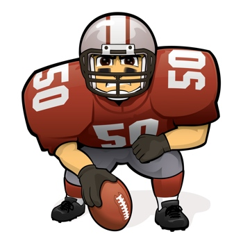 350x350 Football Player Clipart Free Download Clip Art