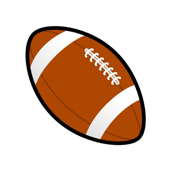 600x600 Football Clip Art With Transparent Background 3