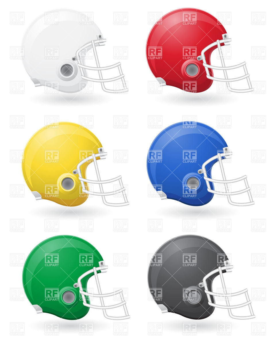 933x1200 Set Of American Football Helmets Royalty Free Vector Clip Art