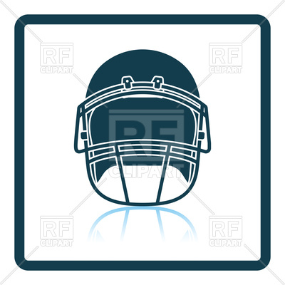 400x400 Shadow Reflection Design Of American Football Helmet Royalty Free
