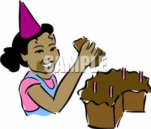 300x256 An African American Girl And Her Birthday Cake