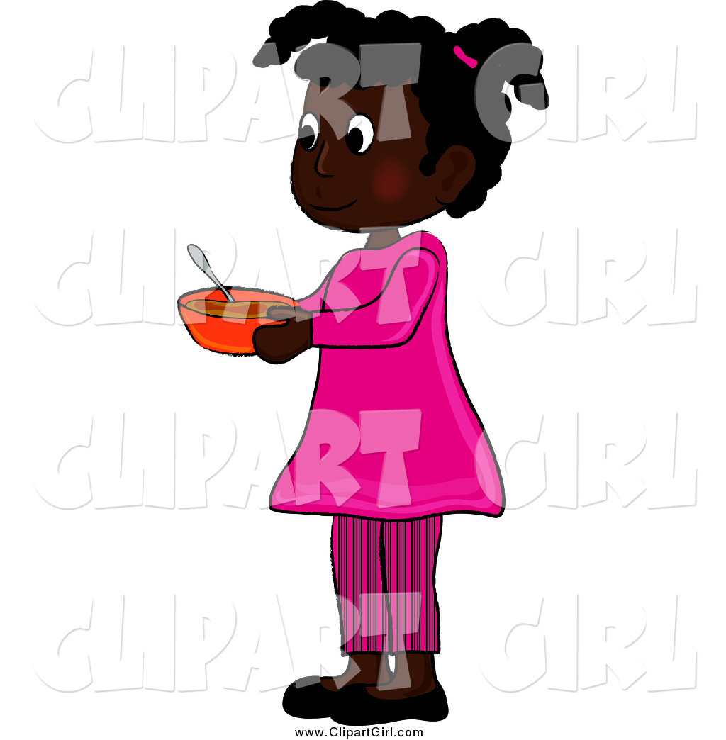 1024x1044 Clip Art Of An African American Girl Holding A Bowl By Pams