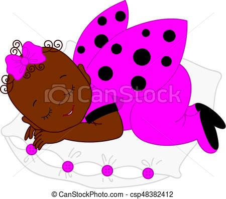 450x396 Vector African American Cute Baby Girl In Ladybug Costume