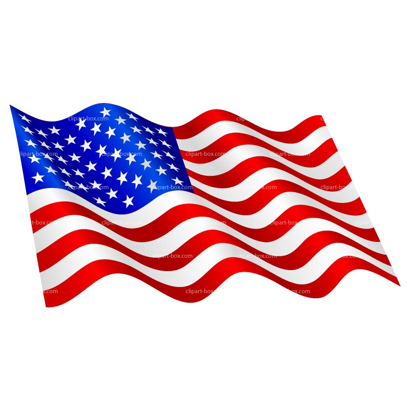 800x800 American Flag Vector Clipart