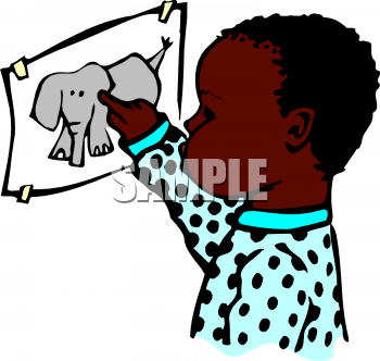 350x332 African Child Clipart