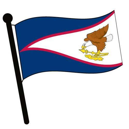 500x500 American Samoa Waving Flag Clip Art