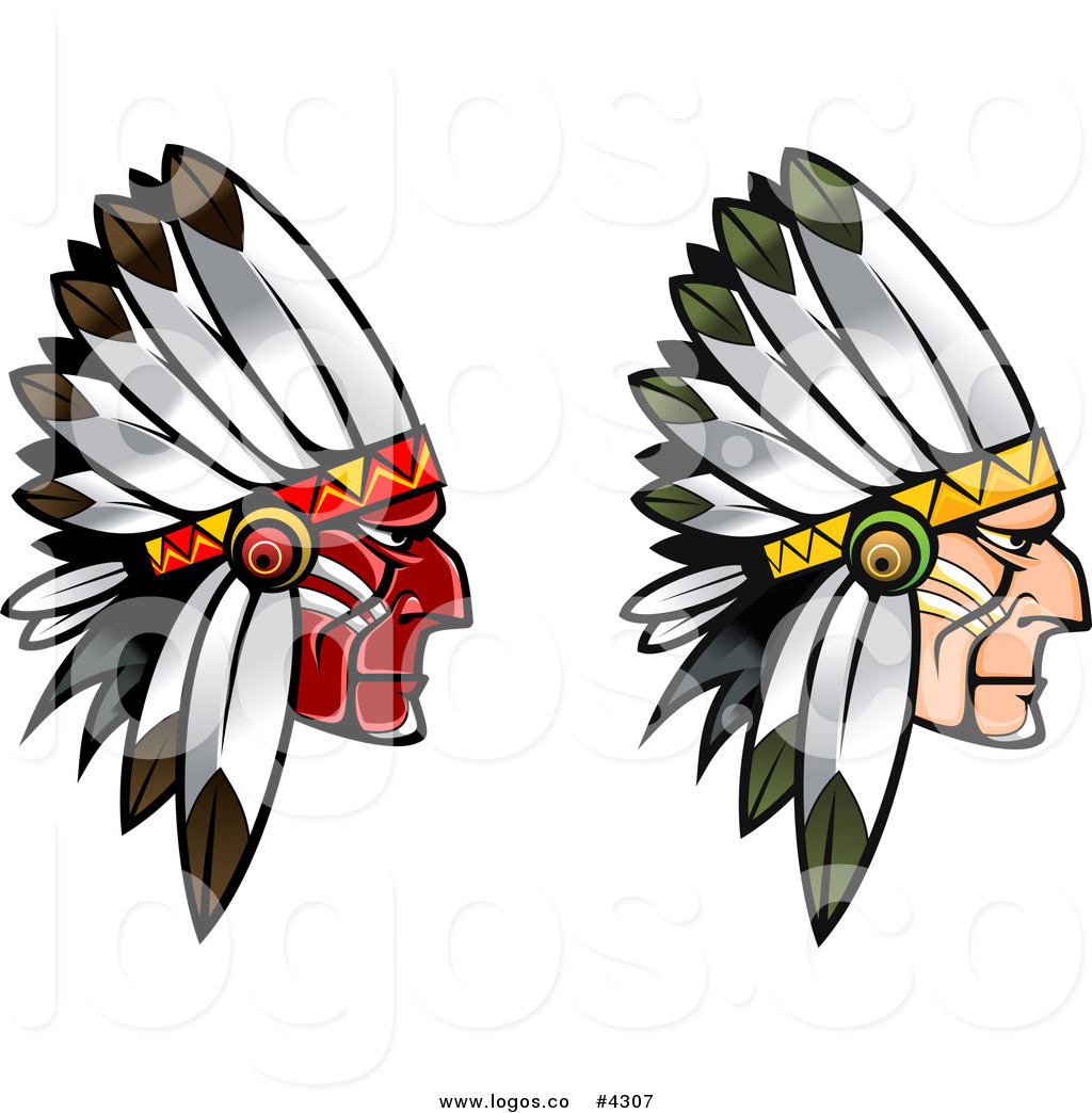 1024x1044 Royalty Free Two Native Americans Logo By Vector Tradition Sm