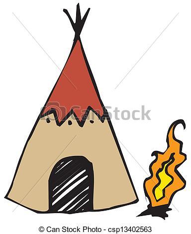 384x470 American Indian Wigwam Clip Art Vector