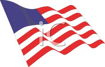 350x224 American Revolution Flag Clip Art