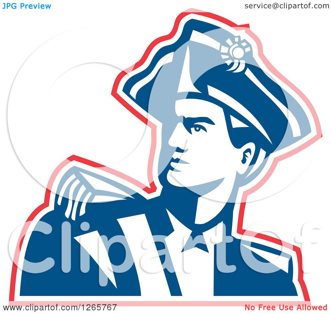 1080x1024 Clipart Of A Red White And Blue American Revolution Patriot