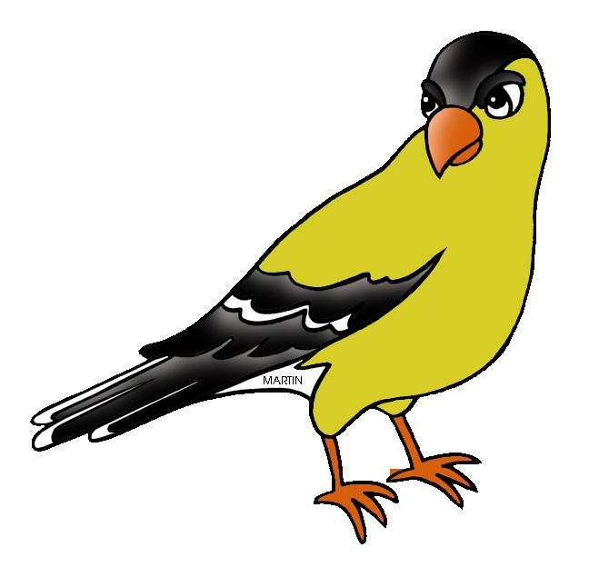 648x624 United States Clip Art By Phillip Martin, State Bird Of Iowa