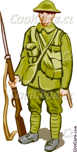 153x300 Soldier With Weapon Vector Clip Art
