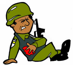293x263 Wounded Soldier Clipart