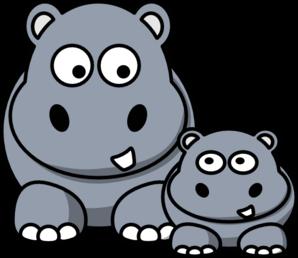 298x258 Hippo Clip Art