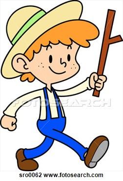 252x370 Amish Boy Clipart