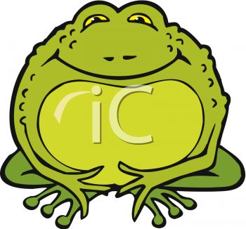 350x326 Picture Of A Fat Cartoon Toad In A Vector Clip Art Illustration