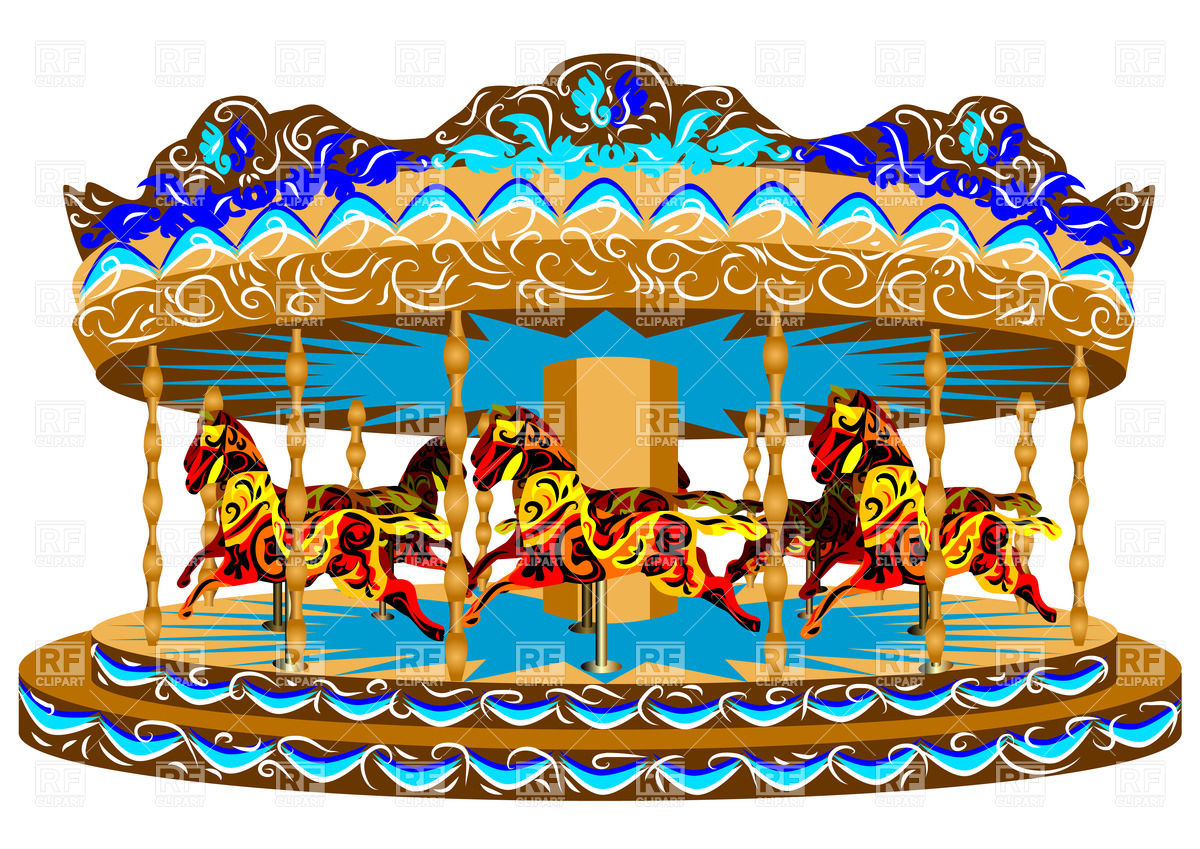 1200x849 Carousel With Horses Vector Image Vector Artwork Of Objects