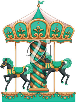 261x350 Clipart Illustration Of A Carousel