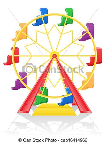 350x470 Ferris Wheel Illustration Isolated On Background Stock