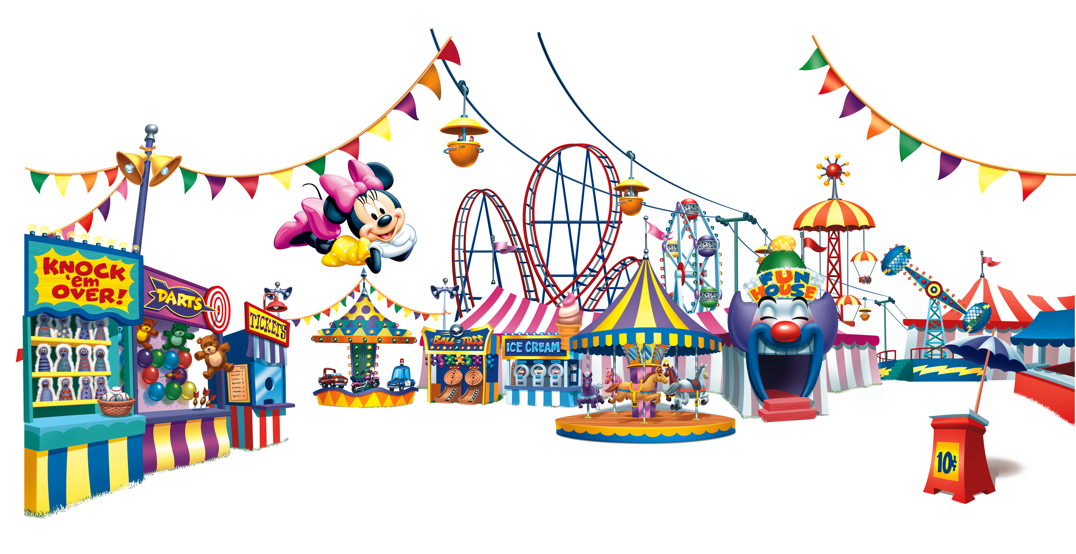 3629x1871 Mickey Mouse Amusement Park Cartoon The Walt Disney Company