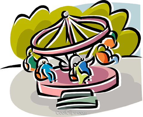 480x393 Amusement Park Rides Royalty Free Vector Clip Art Illustration