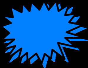 298x231 Blue Explosion Clip Art