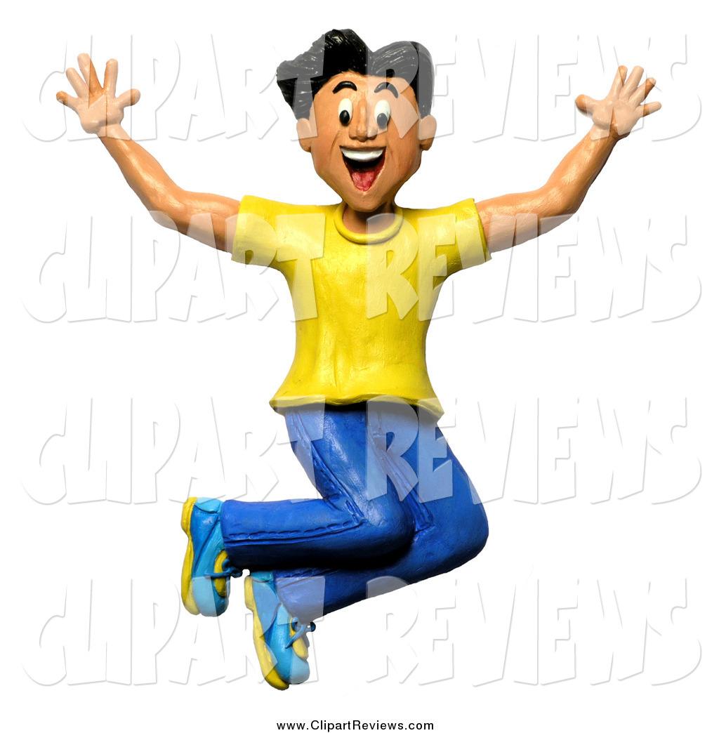 1024x1044 Clip Art Of A 3d Happy Man Jumping By Amy Vangsgard