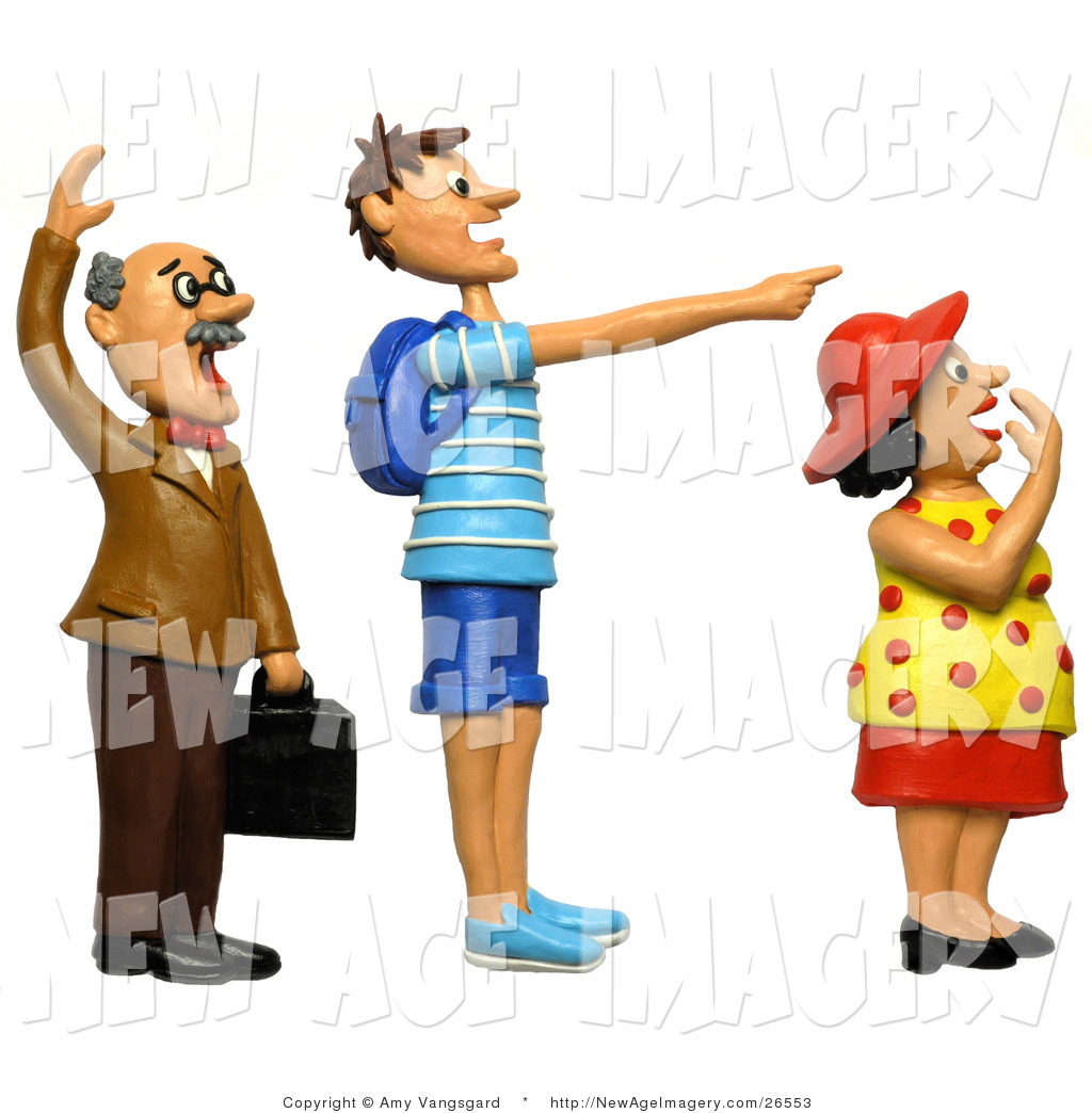 1024x1044 3d Illustration Of 3d People Staring And Pointing