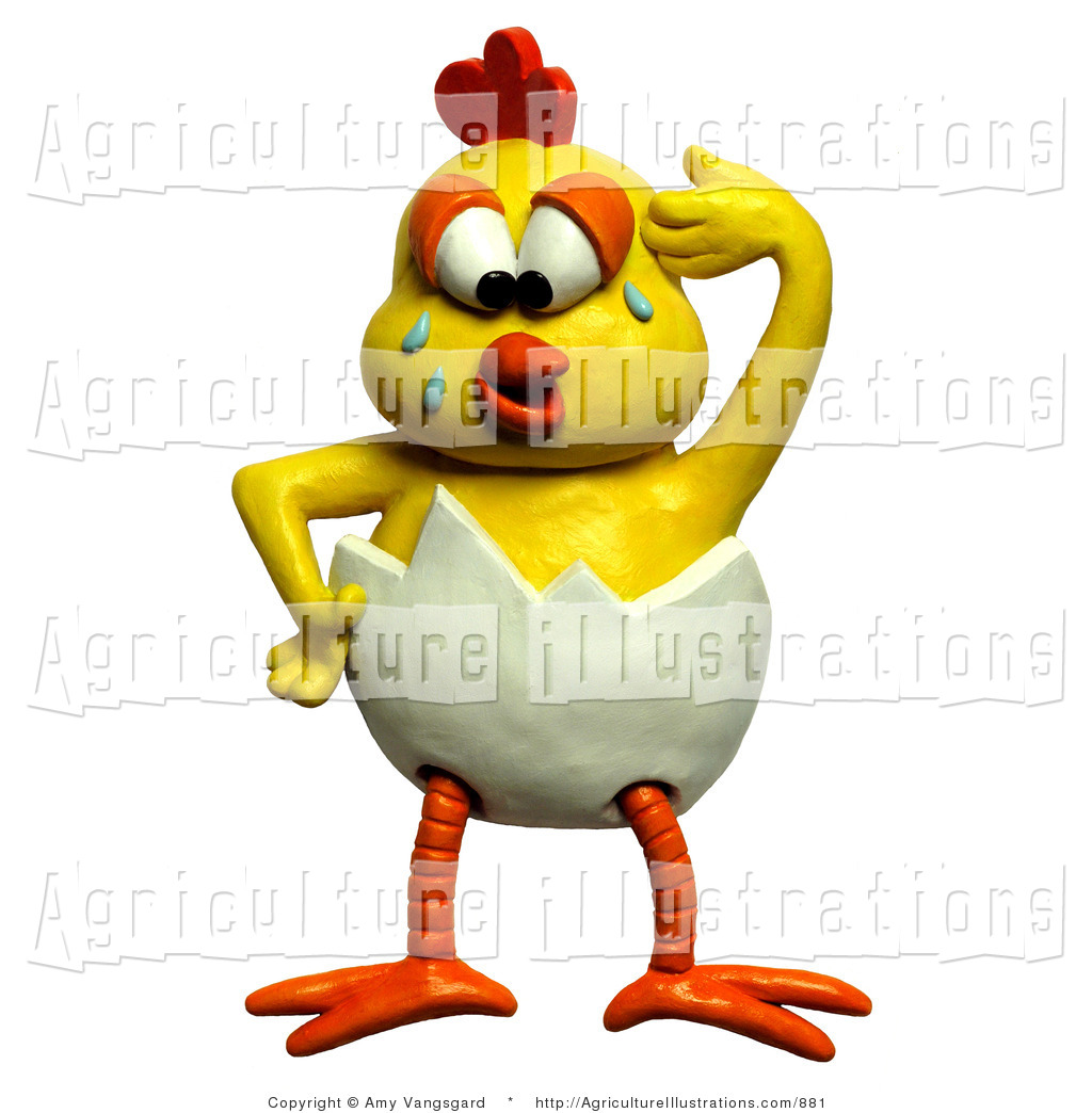 1024x1044 Agriculture Clipart Of A 3d Upset Chick Crying And Trying