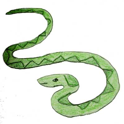 400x400 Smooth Green Snake Clipart Black And White