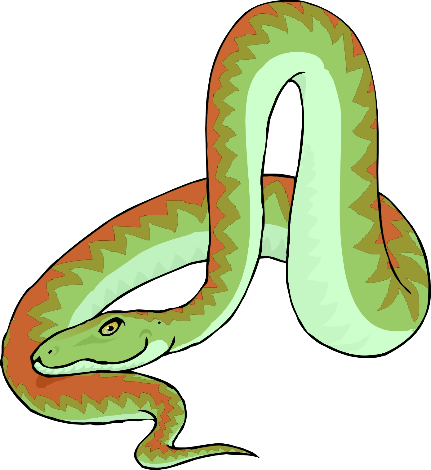 1390x1519 Anaconda Clipart S Shaped Snake