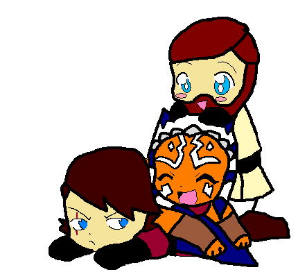 430x392 Clone Wars Anakin Skywalker Images Ani, Obi, And Lil' Soka