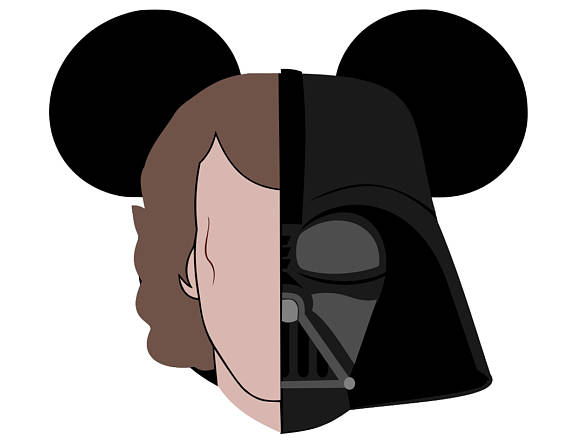 570x440 Queen Amadala And Vader Amp Anakin Skywalker Mickey Heads Svg
