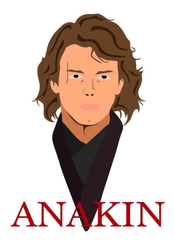 570x806 Starwars Anakin Skywalker Graphic Design Poster