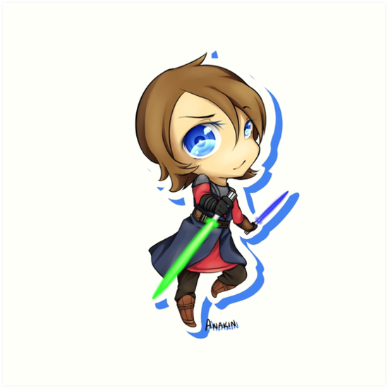 550x550 Anakin Skywalker Chibi Art Prints By Zenakarma Redbubble