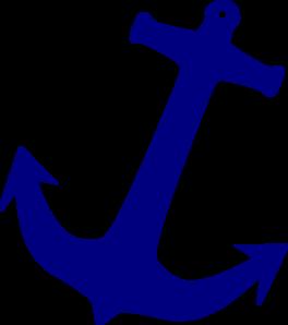 264x298 Blue Anchor Clip Art